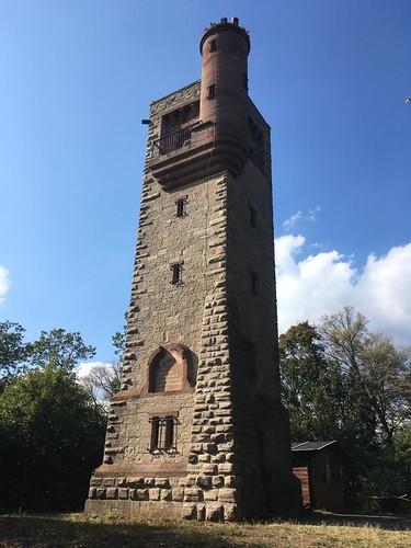 1903 Sangerhausen Moltke-Warte 26mH auf Schlößchenkopf auch genannt Hoher Berg 211m ü.NN Vordere Dorfstraße in 06526 Lengefeld