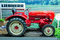 Landwirtschaft auf der IFA: Roter Liebherr Porsche Traktor Diesel Junior