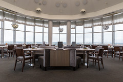 Restaurant with panoramic view at Select Hotel Spiegelturm Berlin - Spandau