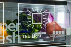 Siemens iQ - fridge with environmental friendly LED-Lightning and hyper fresh box for salat and vegetables