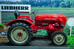 Agriculture at IFA: Red Tractor by Liebherr Porsche - Diesel Junior exhibited