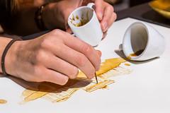 Latte Art: Brandenburger Tor Berlin
