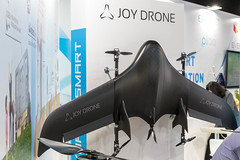 Black Joy Drone Type VTOL UAV for monitoring and security, with electric battery