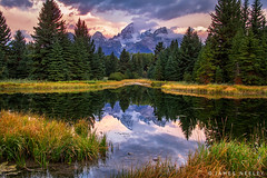 Image by James Neeley (jpn) and image name Schwabacher Morning photo  about The weather was unsettled but the morning was beautiful and the view iconic at Schwabacher Landing in Grand Teton National Park.