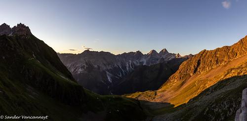 Sunrise at the Insbrucker Hütte