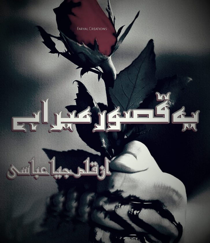 Ye Qasoor Mera Hai is a very well written complex script novel by Jiya Abbasi which depicts normal emotions and behaviour of human like love hate greed power and fear , Jiya Abbasi is a very famous and popular specialy among female readers