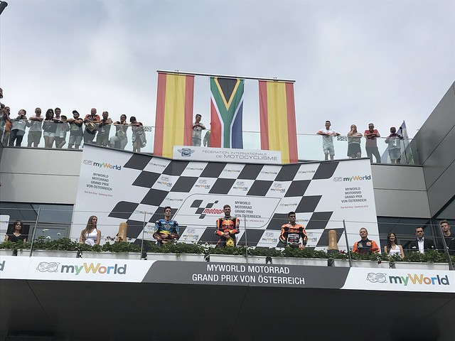 Brad Binder winning Moto2 race
