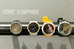 GPS Sportuhr Garmin Fenix 6 Sapphire, mit Fitnesstracker und transflektives Display