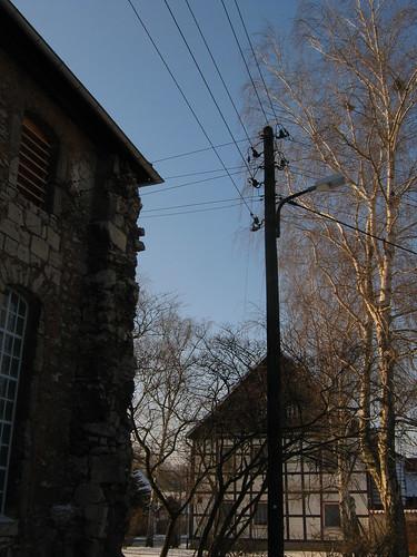Elende bei Bleicherode: Alter Strommasten (220 V) aus den 1920-ern
