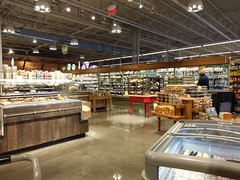 Baked, packaged and refrigerated goods in the Whole Foods grand aisle