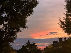 Brilliant September sunset from S Street NW, Washington, D.C.