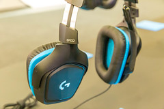 Logitech G432 7.1 Surround Gaming Headset for multiple gaming devices with leatherette earpads