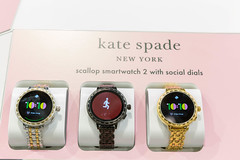Kate Spade scallop smartwatch 2 in different colors and with social dials