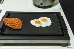 Spiegelei und Steak auf dem BP 2781 Tischgrill (Griddle) von Tristar
