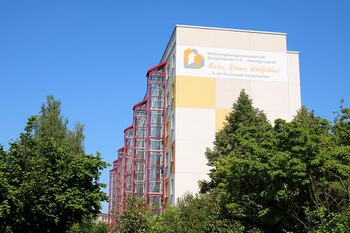 Sangerhausen: Plattenbau am Stadtrand