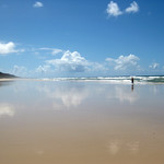 40 Mile Beach Noosa Queensland by Bill Wastell