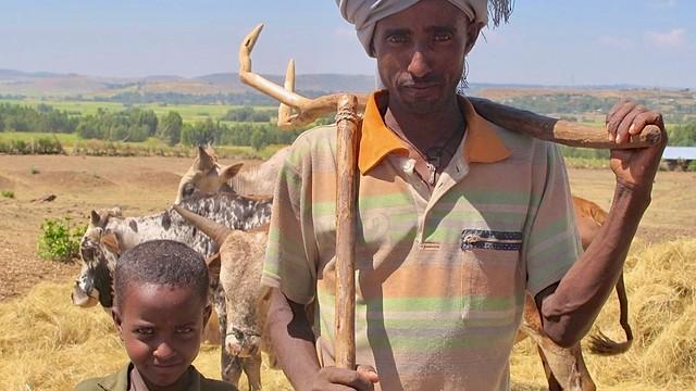 Äthiopien, Hochlandbewohner in den Semien-Bergen.