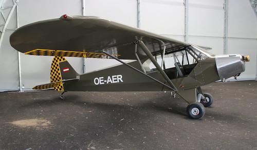 Piper PA18 Super Cub OE-AER St Polten 18/07/19