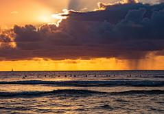 Oahu Hawaii North Shore Sunset Surfers Pipeline