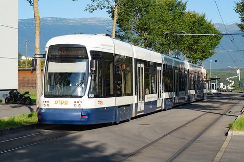 TPG Tram Bombardier Cityrunner Be 6/8 881