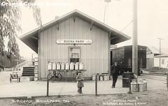 Southern Pacific depot, Buena Park, circa 1917