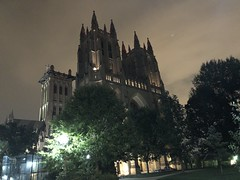 National Cathedral at night from Wisconsin Avenue NW, Washington, D.C.