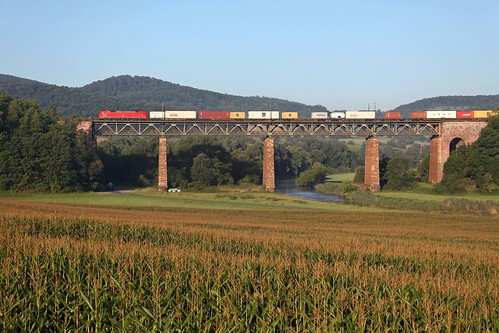 DB 152 + Güterzug/goederentrein/freight train  - Oberrieden