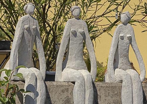 7. Kunst im Garten, Artist: Andrea Reiser, Drei Grazien