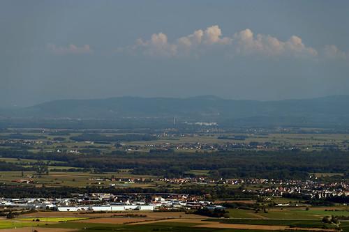 View towards the Kaiserstuhl