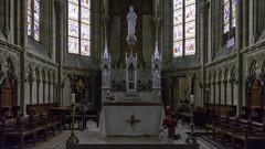 Dans le chœur de Notre-Dame-de-la-Recouvrance