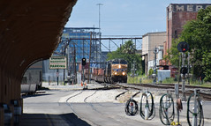 Freight Train through the Heat Haze