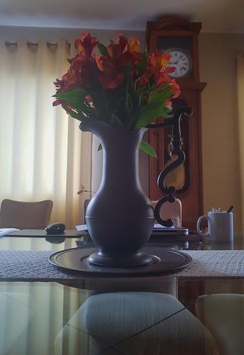 Vaso de flores.