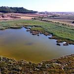 Las lagunas de La Guardia (Toledo) a vista de dron