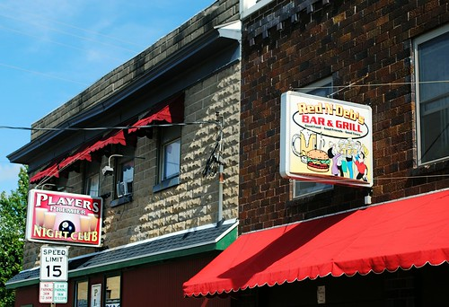 Couple of bars on Mineral St., Platteville, Wisconsin
