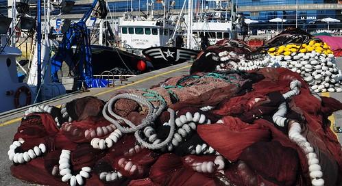 Port de pêche, Santoña, comarque de Trasmiera, Cantabrie, Espagne.