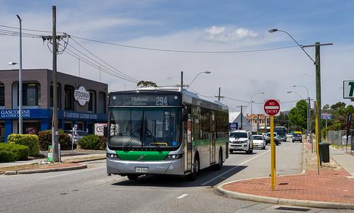 Perth city bus: Volgren Optimus # 2754