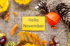 Welcome Background to the onset of November and autumn holidays