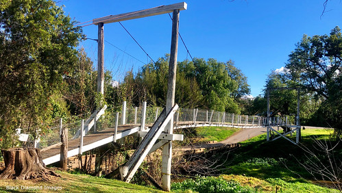 Rex Collison Swinging Footbridge, Moonan Flat, Upper Hunter Valley, NSW