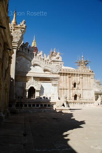 Shadowy Exterior of Bagan Temple Complex, Myanmar