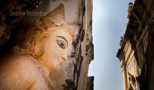 Rough Angelic Figure Between Temples