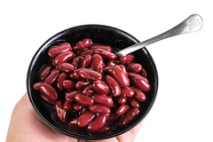 Red Kidney Beans served in the bowl