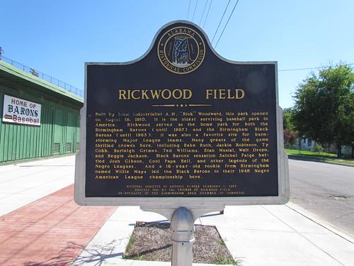 Rickwood Field Marker -- Birmingham, AL, August 30, 2019