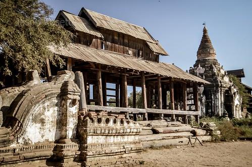 Dilapidated Structure Near Overgown Temple, Yangon, Myanmar