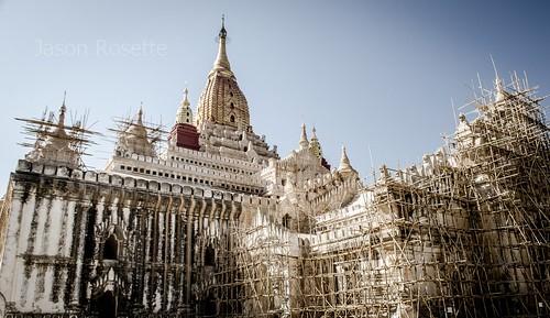Massive Temple in Bagan Under Renovation