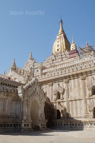 Sunny Side of Major Temple in Bagan, Myanmar (vertical)