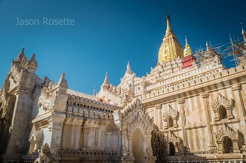 Sunny Side of Major Temple in Bagan, Myanmar