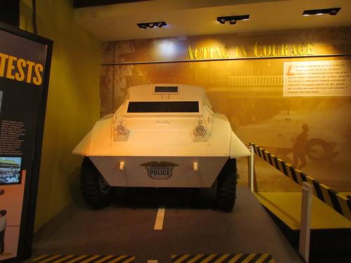 Police Tank at the Birmingham Civil Rights Institute -- Birmingham, AL, August 31, 2019