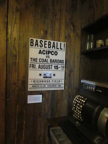 Baseball Poster at Vulcan -- Birmingham, AL, August 31, 2019