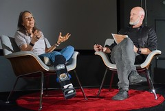 Esther Dyson, with Alex Rose of the Long Now Foundation