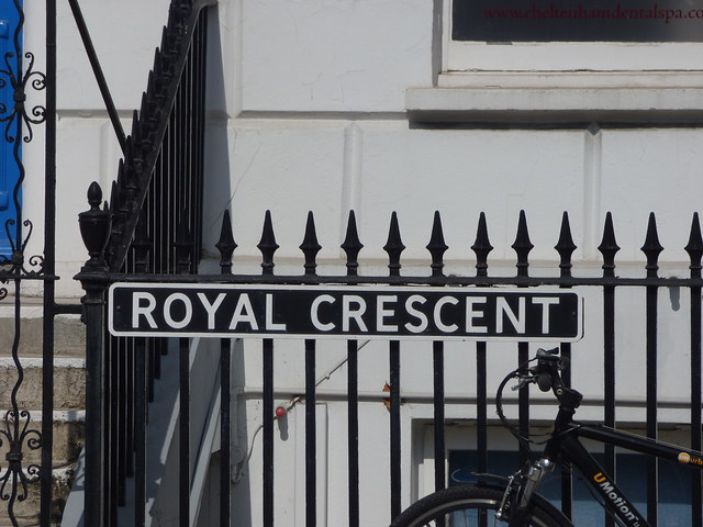 Photo:Royal Crescent, Cheltenham - road sign By ell brown